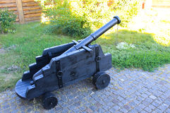 Old medieval artillery canon Royalty Free Stock Photos