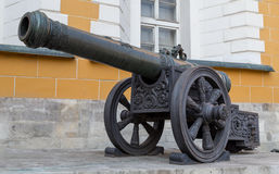 Old medieval artillery iron cannon Royalty Free Stock Photography