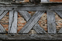 Free Old Medieval Brick And Timber Wall Royalty Free Stock Images - 77410449