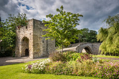Old Medieval Bridge at Warkworth Royalty Free Stock Photography