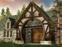 Old medieval building Royalty Free Stock Images