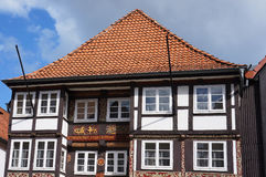 Old medieval building in Hameln, Germany. Old medieval building in the Weser Renaissance style in Hameln, Germany Stock Photography