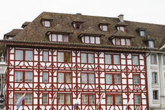 Old medieval building in Lucerne, Switzerland Stock Images