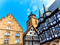 Old medieval buildings on the marketplace in Alsfeld, Germany Royalty Free Stock Image