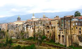 Old medieval buildings in Sant'Agata near Naples Royalty Free Stock Images