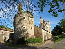 Old medieval castle. Old medieval french castle in province Stock Photography