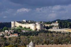Old medieval castle in Avignon, France. Stock Photo