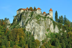 Old medieval castle Bled, Slovenia Stock Photography