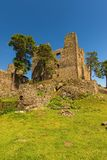 The old medieval castle built from stones Stock Images