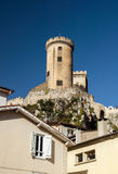 Old medieval castle in Foix, Ariege Royalty Free Stock Photography