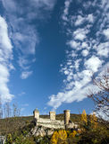 Old medieval castle in Foix, Ariege Stock Image
