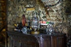 Old medieval castle interior Stock Photos