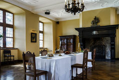 Old medieval castle interior Stock Image