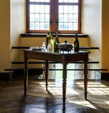 Old medieval castle interior Stock Photography