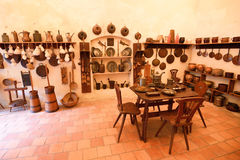 Old medieval castle kitchen Stock Images