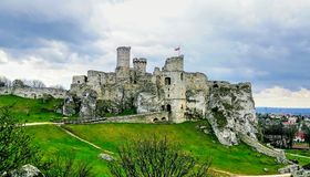 Medieval castle. stock images