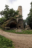 Old medieval castle tower ruins Stock Images