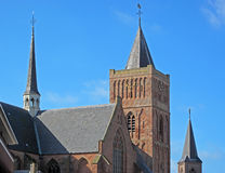Old medieval cathedral. In Noordwijk, Netherlands, Europe stock photo