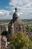 Old medieval cathedral in Dijon. Royalty Free Stock Images