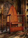 Old medieval chair Stock Photo
