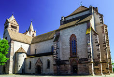 Old medieval church in Alsace Royalty Free Stock Images