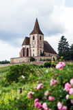 Old medieval church in Alsace Royalty Free Stock Photos