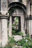 Old medieval church arc. With saturated colors royalty free stock image