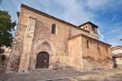 Old medieval church Saint Thomas in the ancient medieval village Royalty Free Stock Photos