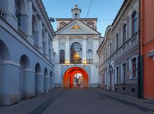 Vilnius. Old city gate at dawn. stock photography