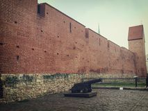 Old medieval city wall riga Latvia Stock Photo