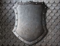 Free Old Medieval Coat Of Arms Shield Over Scales Royalty Free Stock Image - 48316846