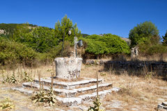 Old medieval cottage in Greece Stock Photo