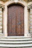Old medieval door front view Royalty Free Stock Photos