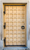 Old medieval door in a house in the center of Lviv. Old medieval door in a house Royalty Free Stock Photos