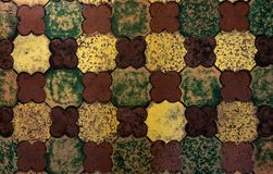 Old medieval floor tiles pattern texture. Background royalty free stock image