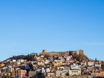 Old medieval fort of Kavala city royalty free stock photography