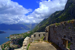 Old Medieval fortifications, Kotor Montenegro Royalty Free Stock Images