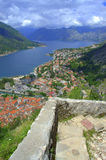 Old Medieval fortifications, Kotor Montenegro Stock Photo