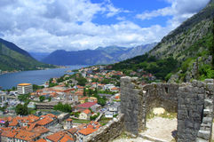 Old Medieval fortifications, Kotor Montenegro Royalty Free Stock Photo