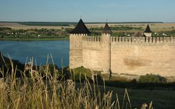 Old medieval fortress in Hotyn,Ukraine Royalty Free Stock Photography