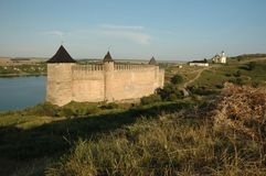 Old medieval fortress in Hotyn,Ukraine Royalty Free Stock Images