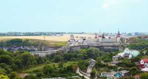 Old Medieval Fortress of Kamenets-Podolsky Royalty Free Stock Image