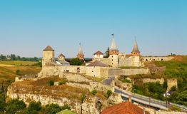 Old Medieval Fortress of Kamenets-Podolsky Stock Photo