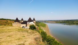 Old Medieval Fortress of Khotyn Stock Images