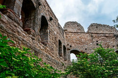 Old medieval fortress Ortenbourg in Alsace Royalty Free Stock Image