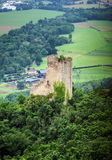 Old medieval fortress Ramstein in Alsace Stock Images