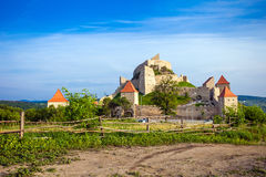 Old medieval fortress on top of the hill, Rupea village located Stock Photography