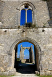 Old Medieval Gothic Abbey Ancient Ruins in France Stock Images