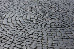 Old medieval granite cobble road Royalty Free Stock Photography