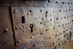 Old medieval keyhole Stock Photography